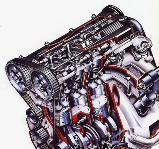 Citroen BX 61 Valve Engine Drawing