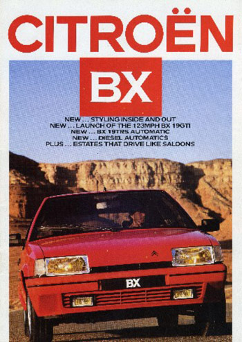bx range sales brochures rh bx16valve com Citroen BX Interior Citroen DS Interior