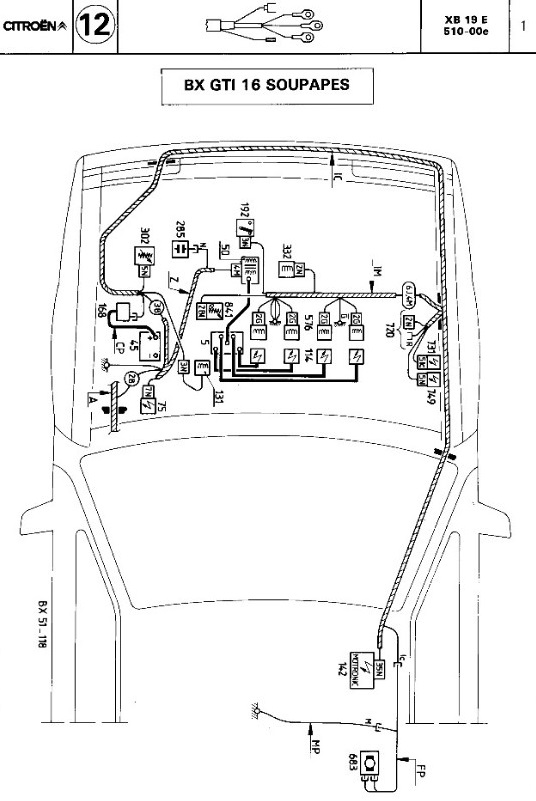 ignition layout from citroen manual